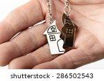 concept of a broken home | Shutterstock . vector #286502543