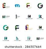 set of new universal company... | Shutterstock .eps vector #286507664