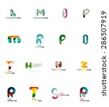 set of new universal company... | Shutterstock .eps vector #286507919