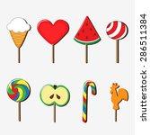 set of bright vector lollipop  | Shutterstock .eps vector #286511384