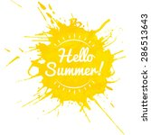hello summer lettering on... | Shutterstock .eps vector #286513643