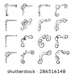 set of page decoration line... | Shutterstock .eps vector #286516148