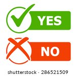 yes and no icons   web buttons. ... | Shutterstock .eps vector #286521509