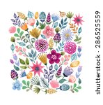 watercolor vector seamless... | Shutterstock .eps vector #286525559