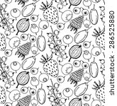 seamless pattern with cute hand ... | Shutterstock .eps vector #286525880