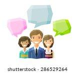 information  conversation ... | Shutterstock .eps vector #286529264
