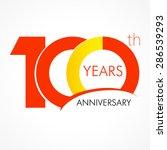 template logo 100th anniversary ... | Shutterstock .eps vector #286539293