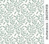 green branch. seamless pattern. | Shutterstock .eps vector #286539458