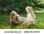mother and daughter having fun... | Shutterstock . vector #286541444