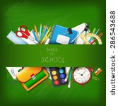 back to school background with... | Shutterstock .eps vector #286543688
