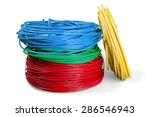 cable  electricity  power cable. | Shutterstock . vector #286546943