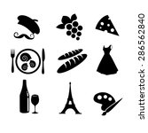 french icon set vector | Shutterstock .eps vector #286562840
