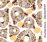 vector pattern  seamless... | Shutterstock .eps vector #286564949