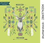 native american tribal style... | Shutterstock .eps vector #286574204