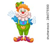 cute cartoon clown. | Shutterstock .eps vector #286575500