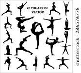 20 vector icon of woman ... | Shutterstock .eps vector #286576778
