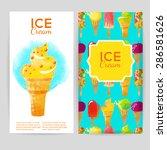 watercolor vector backgrounds... | Shutterstock .eps vector #286581626