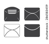 set of icons for messages.... | Shutterstock .eps vector #286583459