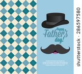 abstract father's day... | Shutterstock .eps vector #286597580