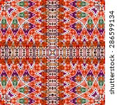 background of thai style fabric ... | Shutterstock . vector #286599134