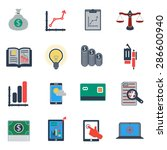 business icons | Shutterstock .eps vector #286600940