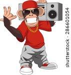 happy monkey | Shutterstock .eps vector #286601054