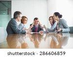 businesspeople arguing in... | Shutterstock . vector #286606859