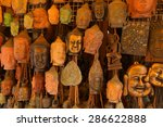Buddha Head Masks And Carvings...