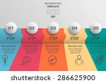 step by step data infographic... | Shutterstock .eps vector #286625900