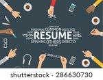 vector resume concept template | Shutterstock .eps vector #286630730