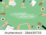 vector customer satisfaction... | Shutterstock .eps vector #286630733