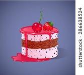 illustration of cake | Shutterstock . vector #286638524