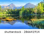 mountain lake strbske pleso in... | Shutterstock . vector #286641914