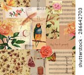 Vintage Style Collage With...