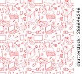 a vector seamless pattern of... | Shutterstock .eps vector #286646246