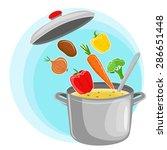 recipe vegetarian vegetable... | Shutterstock .eps vector #286651448