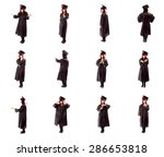 collage of different facial... | Shutterstock . vector #286653818
