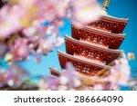 tokyo city   sensoji ji temple  ... | Shutterstock . vector #286664090