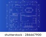 house blueprint plan | Shutterstock . vector #286667900