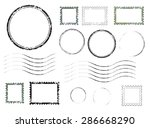 set of postal stamps and... | Shutterstock .eps vector #286668290