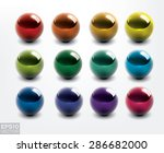 set of colorful vector shiny...