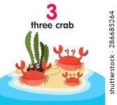 Illustrator Of Number Three Crab