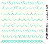 set of trendy linear style... | Shutterstock .eps vector #286685426