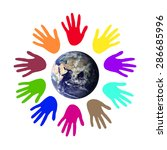 colorful world peace... | Shutterstock . vector #286685996
