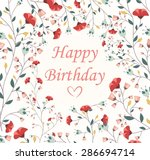 beautiful birthday card | Shutterstock .eps vector #286694714