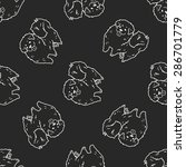 dog doodle seamless pattern... | Shutterstock .eps vector #286701779