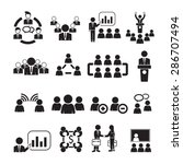 meeting icons vector | Shutterstock .eps vector #286707494