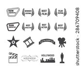 movies and film icons set vector | Shutterstock .eps vector #286709408