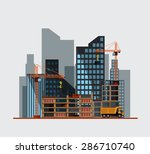 construction. process  tools ... | Shutterstock .eps vector #286710740