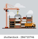 construction. process  tools ... | Shutterstock .eps vector #286710746